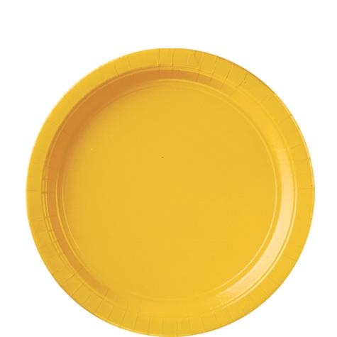 Paper Plates Sunshine Yellow 8 Pack