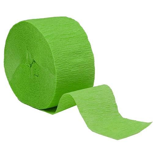 Crepe Streamer Roll Kiwi Green