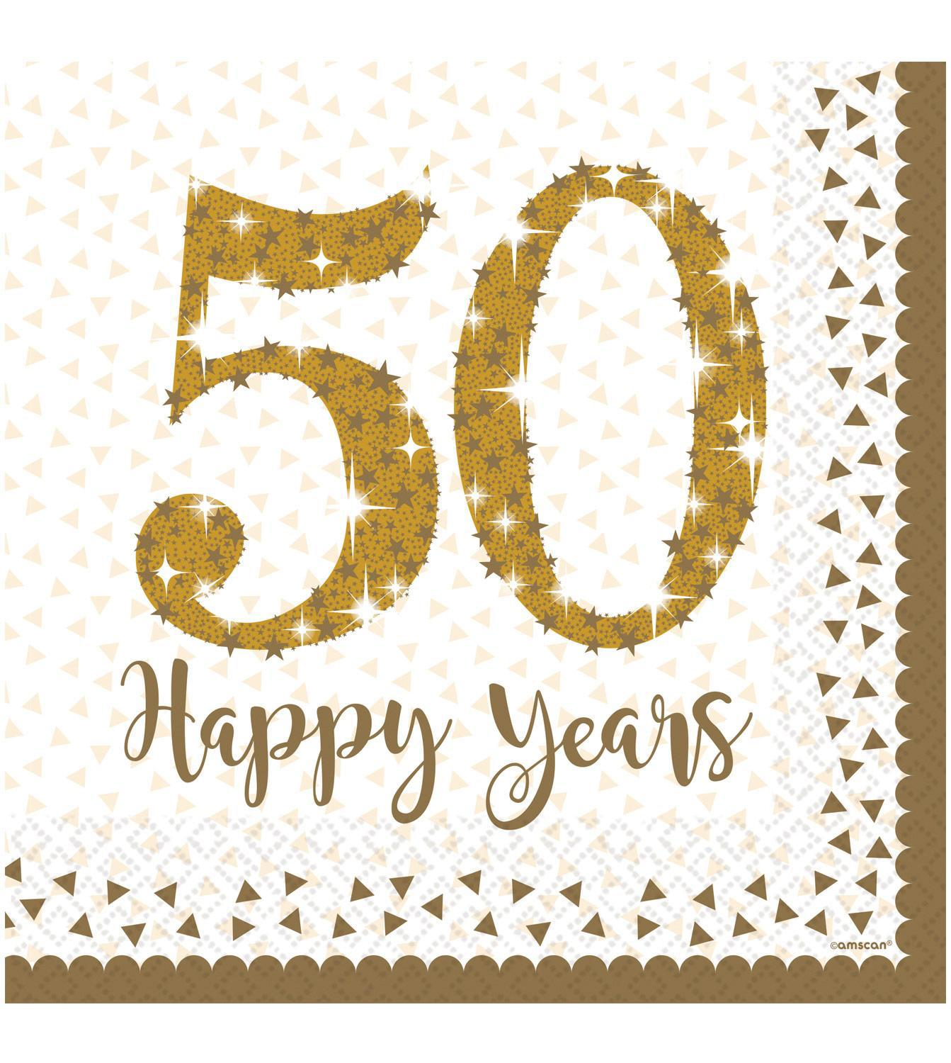 Paper Napkins 50th Golden Anniversary