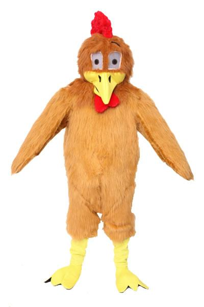 Brown Chicken Mascot Hire Costume