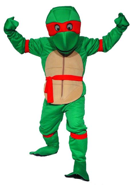 Ninja Turtle Red Mascot Hire Costume