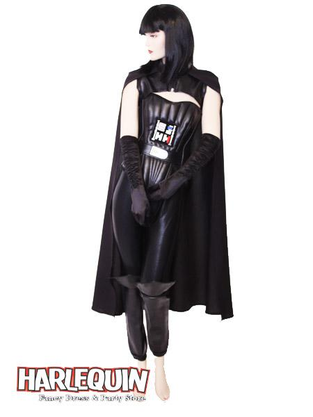 Darth Vader Style Hire Costume Female