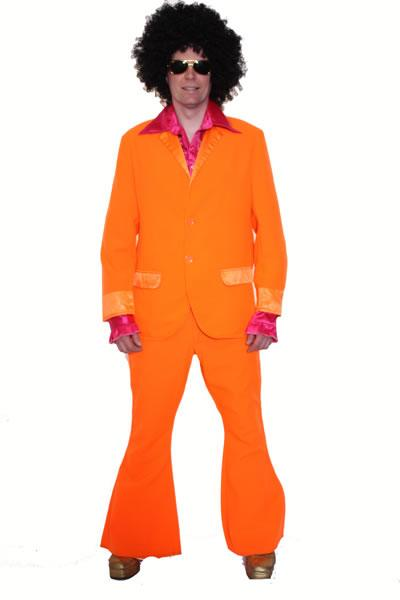 1970s Man Orange Hire Costume