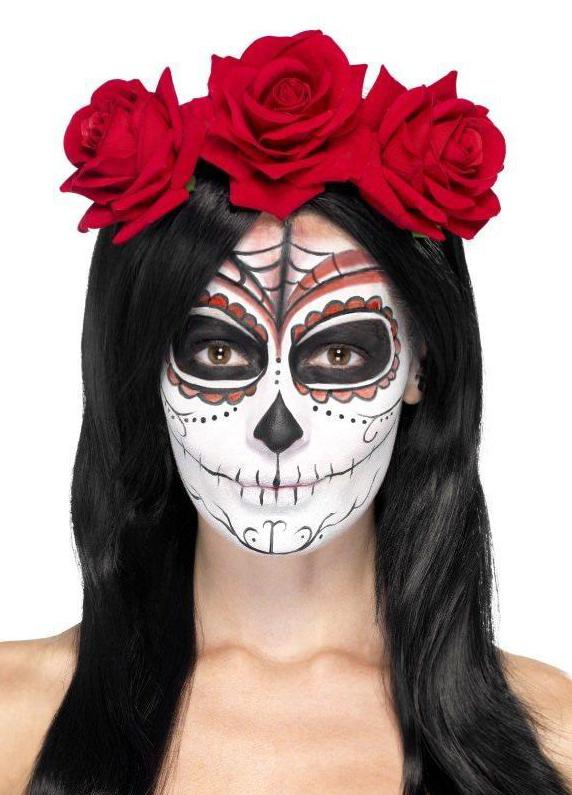 Day of the Dead Headband Red Roses