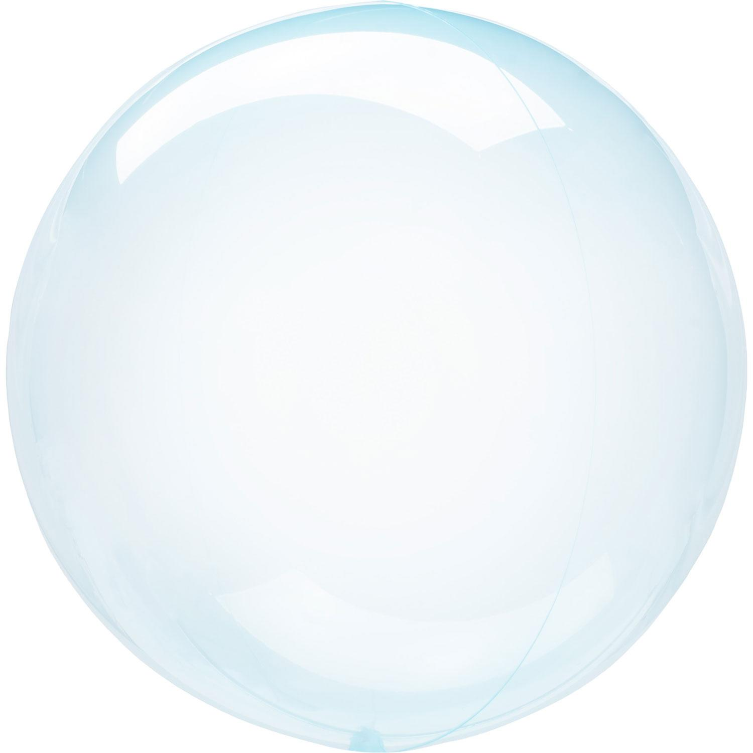Crystal Clearz Bubble Balloon Blue