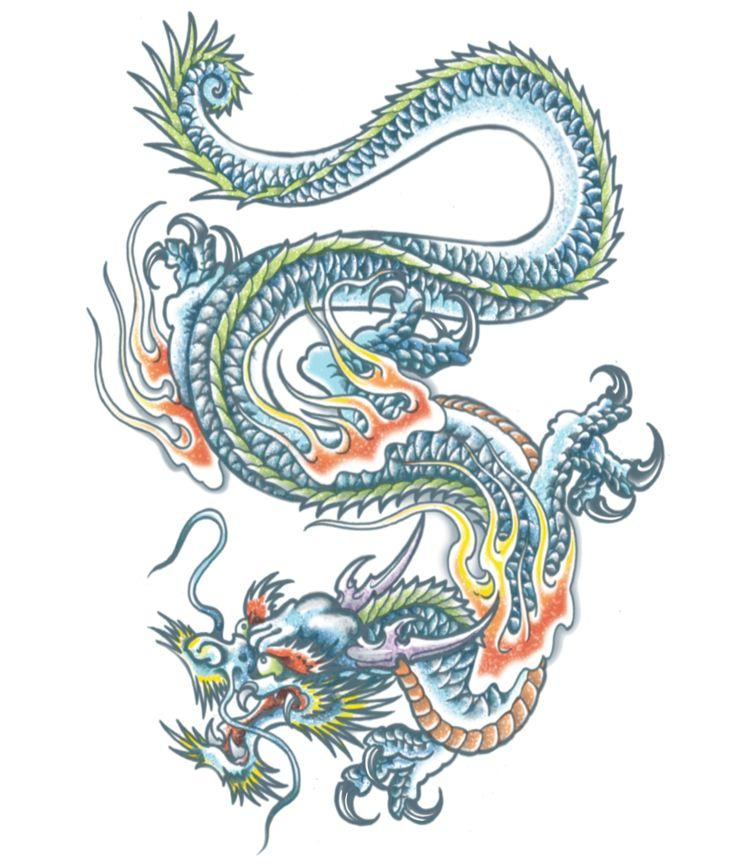 Extra Large Tattoo Dragon Design