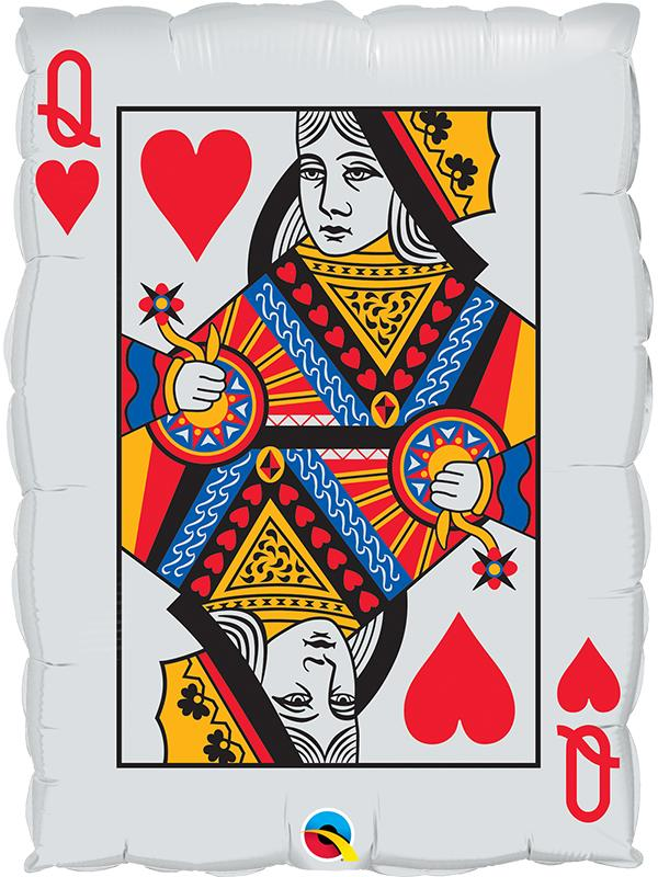 Foil Balloon Playing Card