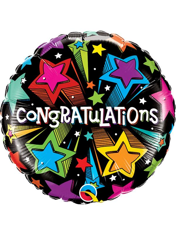 Foil Balloon Congratulations Shooting Stars