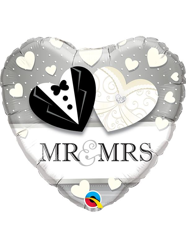 Foil Balloon Mr & Mrs Wedding