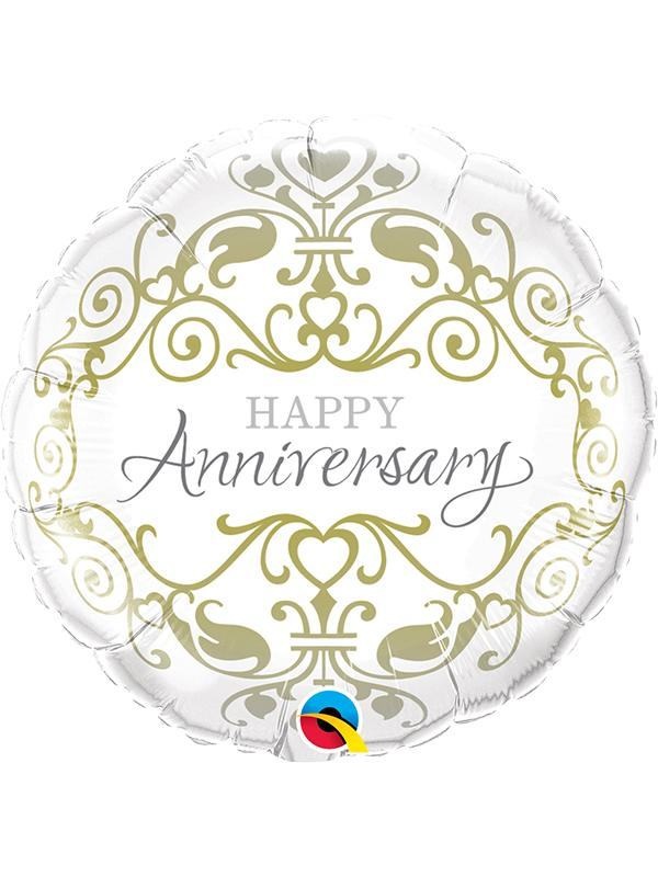 Foil Balloon Happy Anniversary Classic