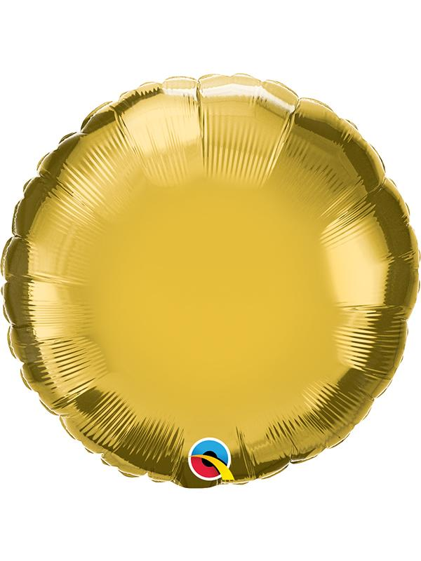 Foil Balloon Round Gold