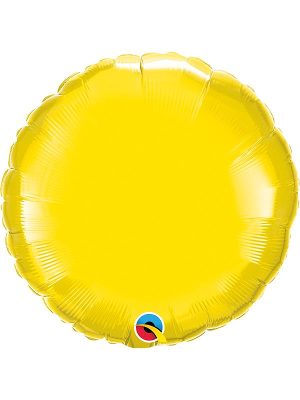 Foil Balloon Round Yellow