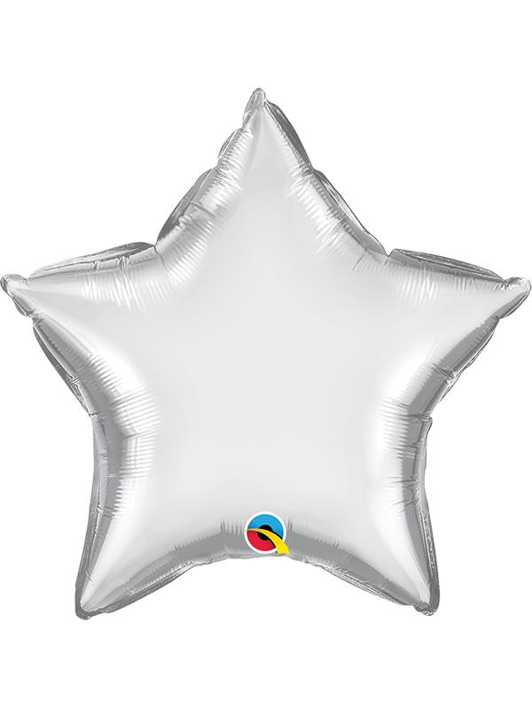 Foil Balloon Star Chrome Silver