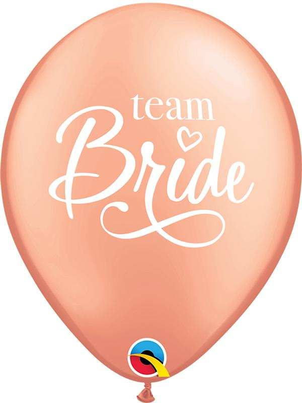 Latex Balloons Team Bride Rose Gold