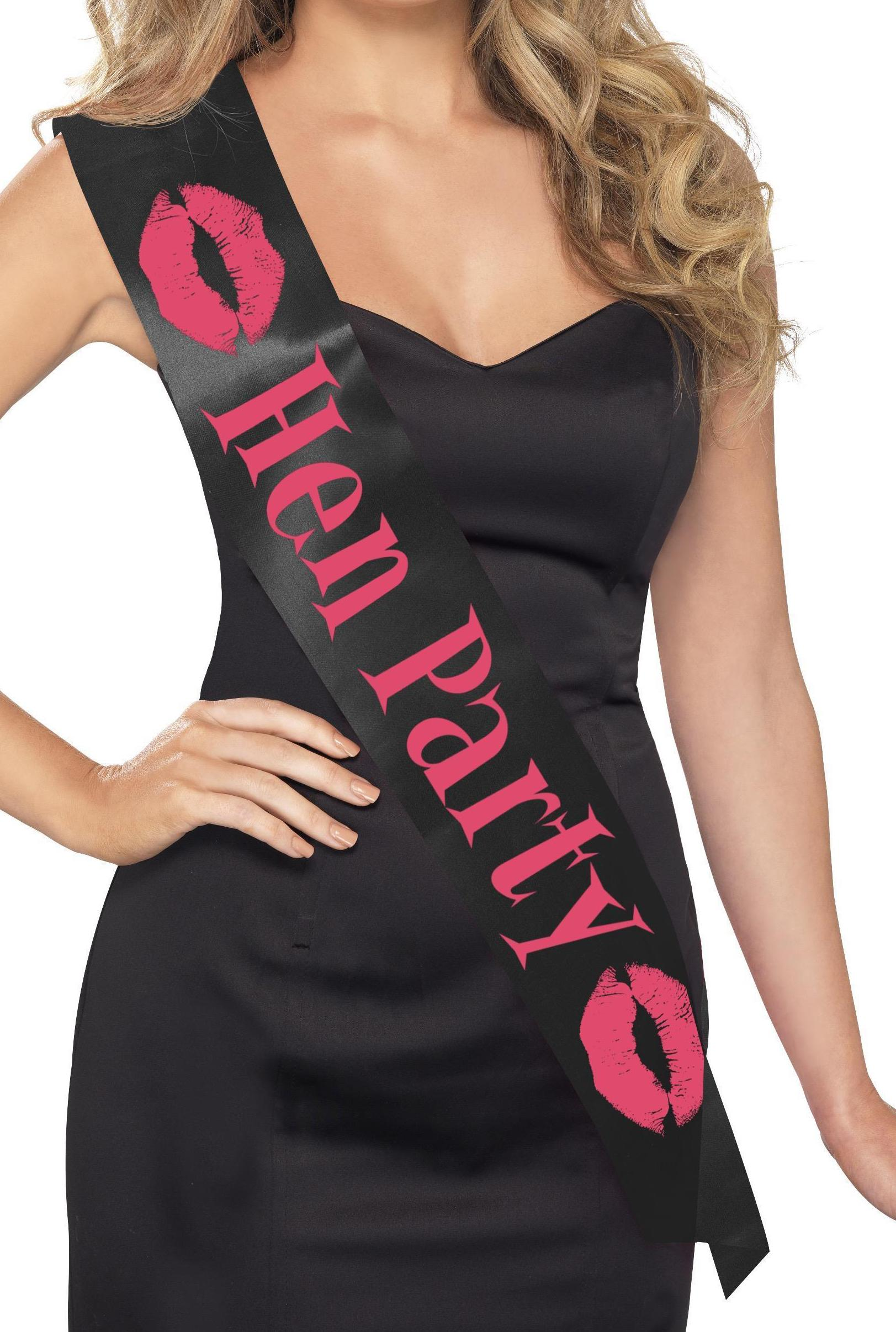Hen Party Sash Black