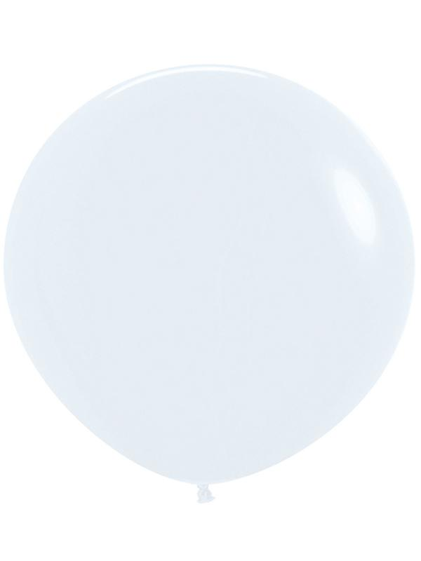 Large Latex Balloon Solid White