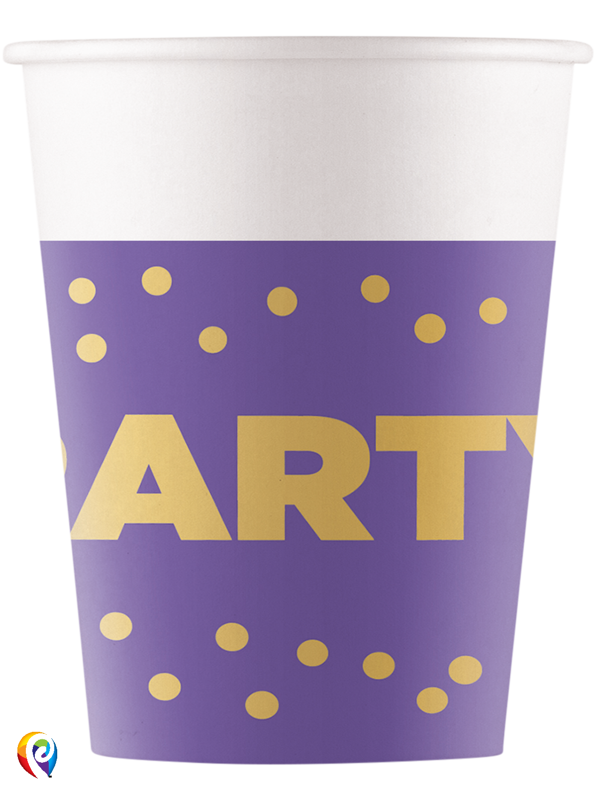 Paper Cups Party Dots Gold
