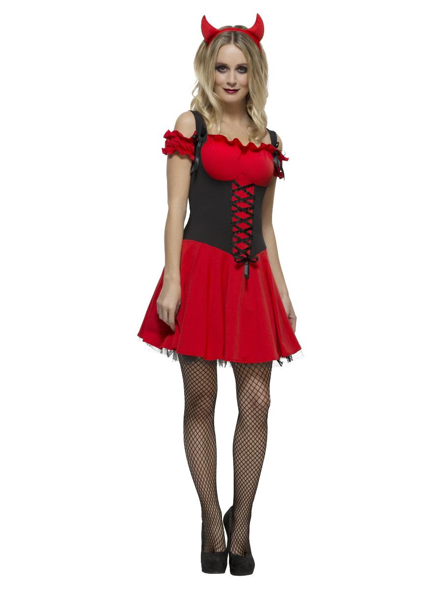 Fever Wicked Devil Costume Red & Black