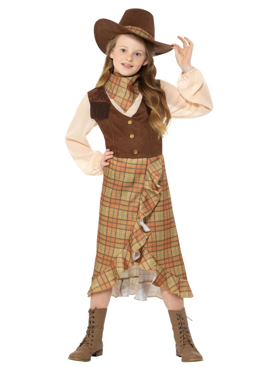 Kids Cowgirl Costume Brown