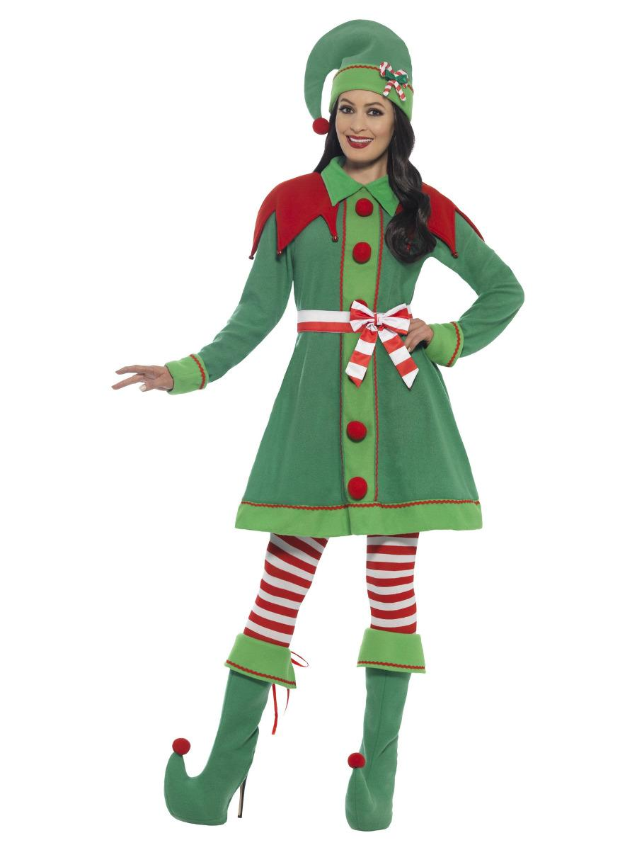 Miss Elf Costume, Green
