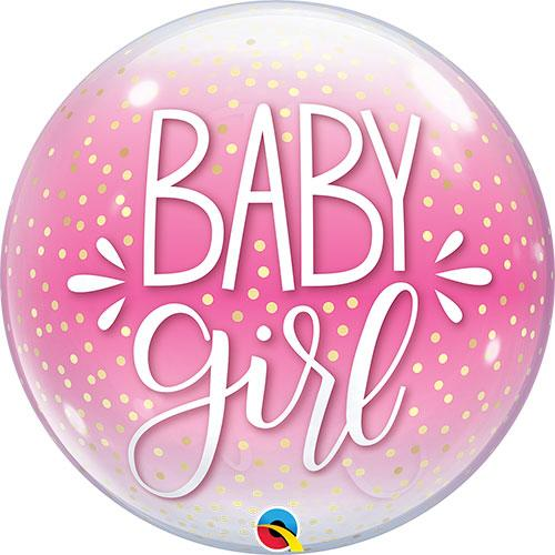 Bubble Balloon Baby Girl Pink
