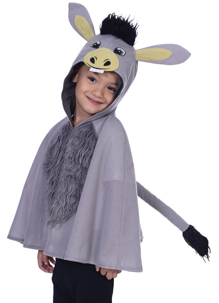 Kids Donkey Poncho Cape Grey