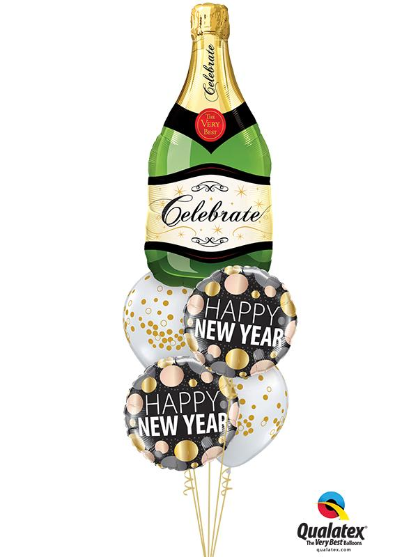 New Year Bubbly Super Bunch Foil Balloon Bouquet