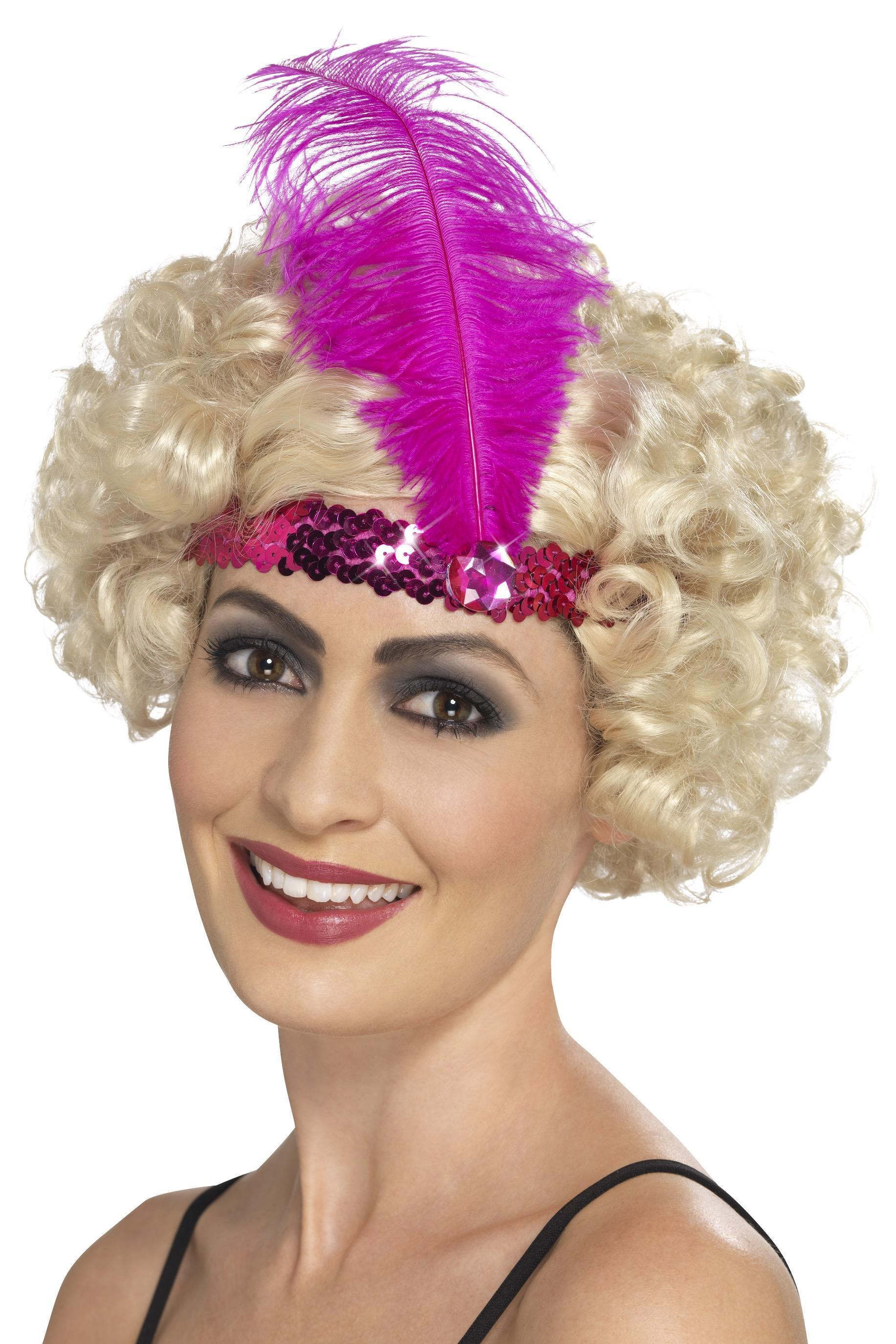 Flapper headband pink sequin