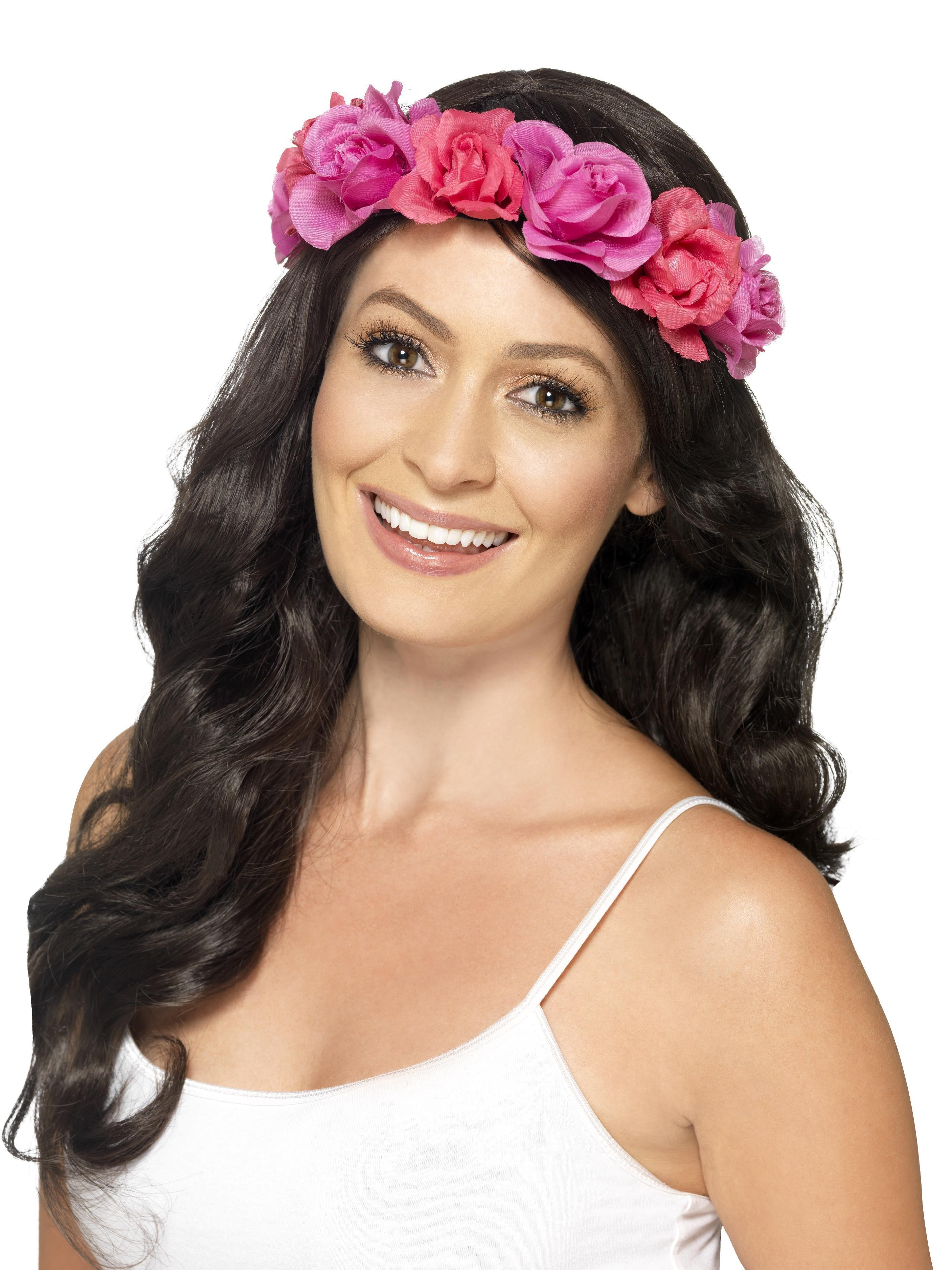 Hawaiian Floral Headband Pink