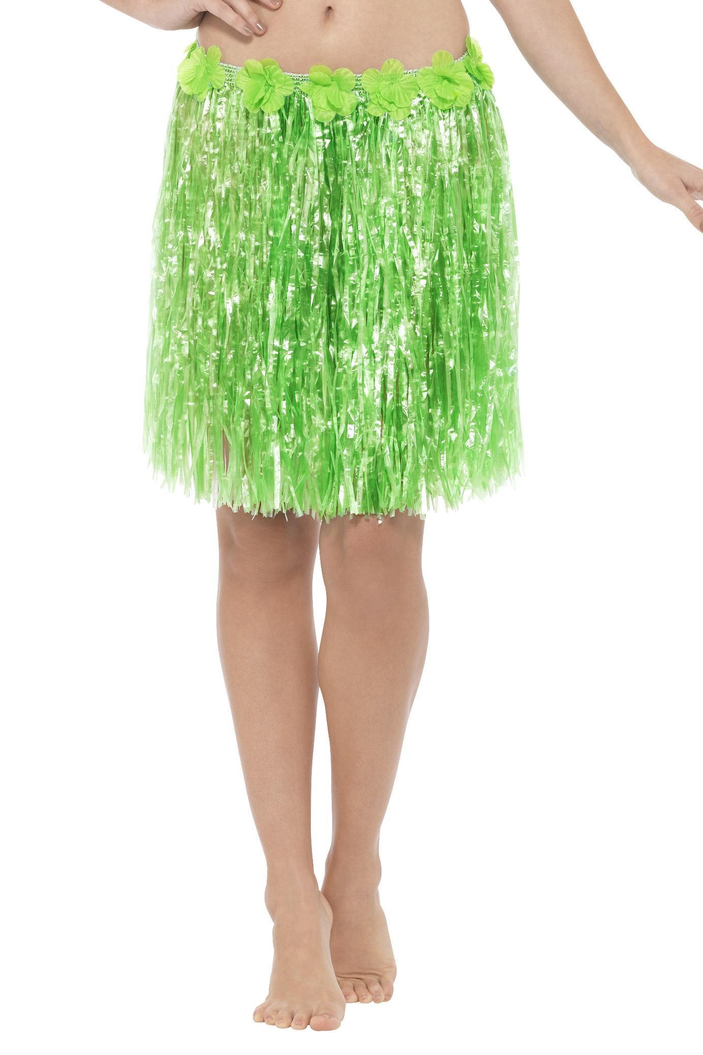 Hawaiian Hula Skirt Neon Green