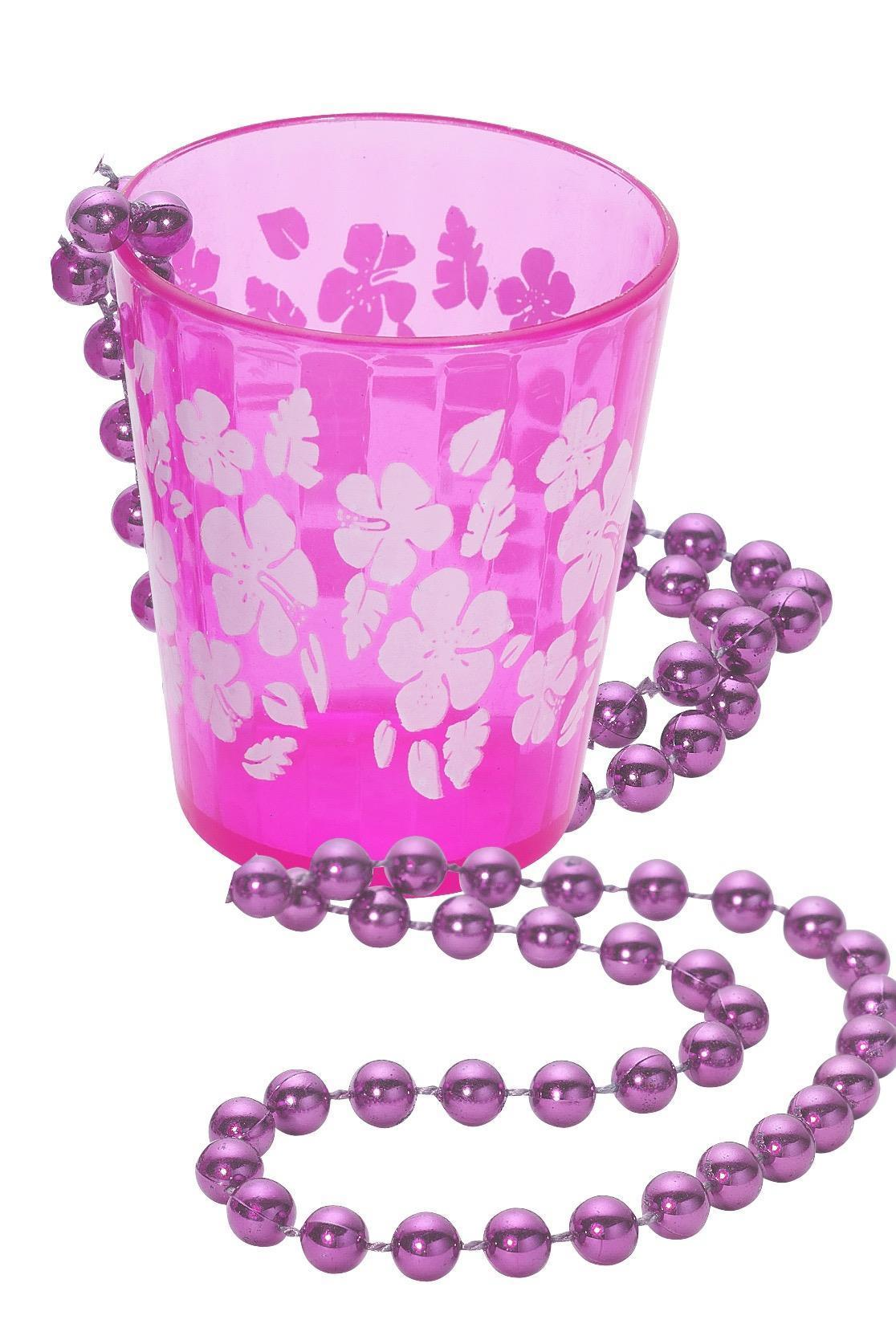 Shot Glass on Beads, Pink