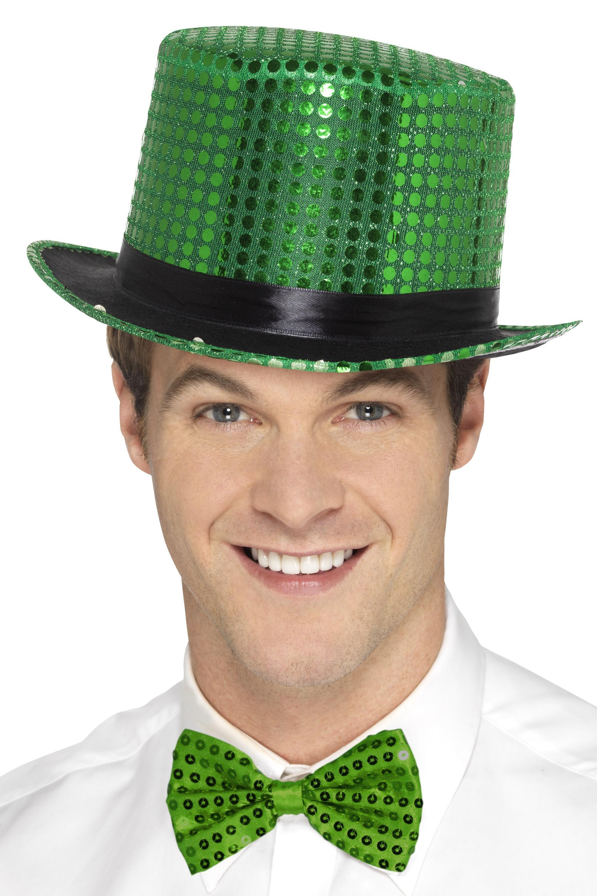 Sequin Top Hat Green