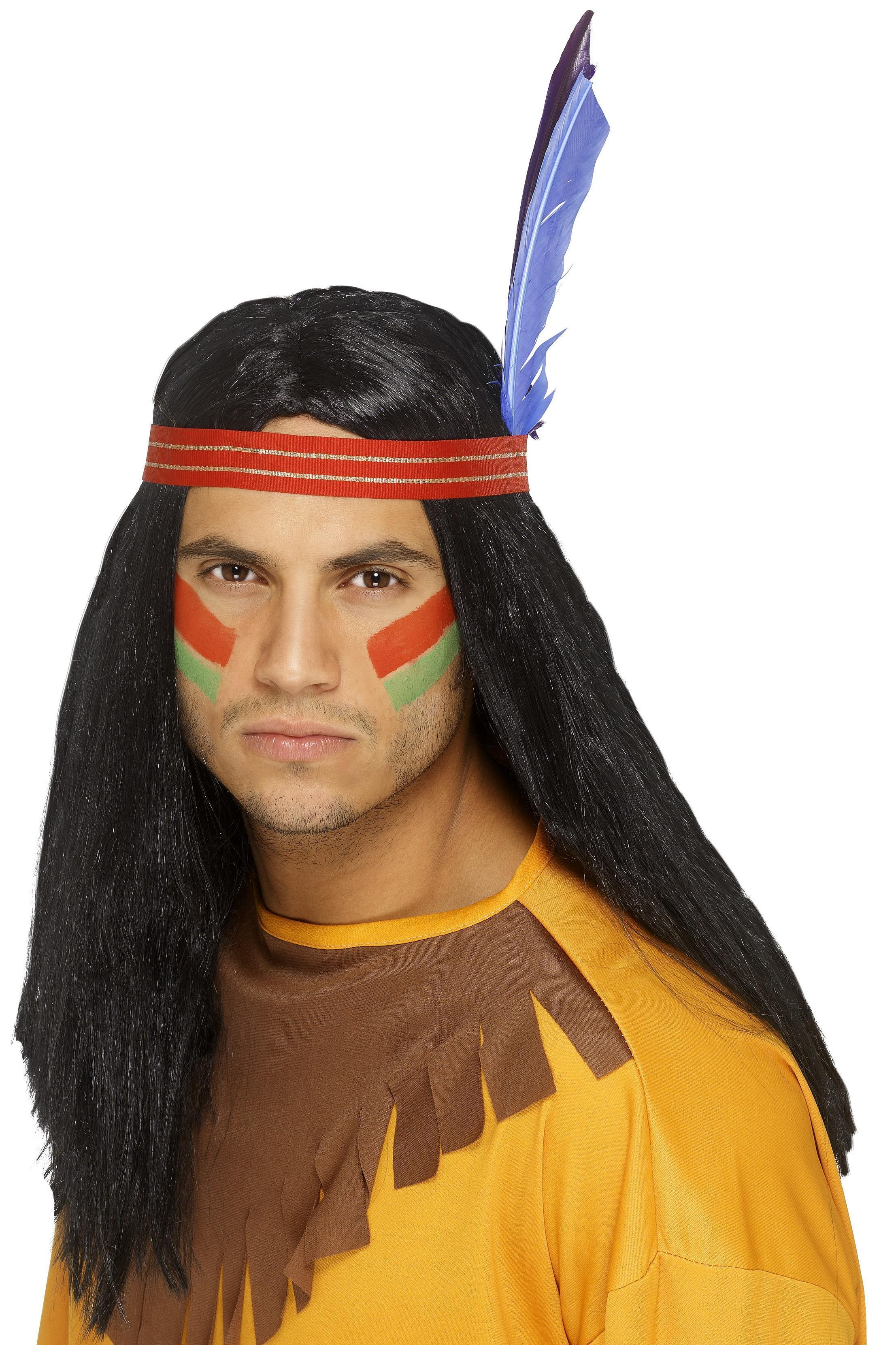 Native American Inspired Brave Wig Black