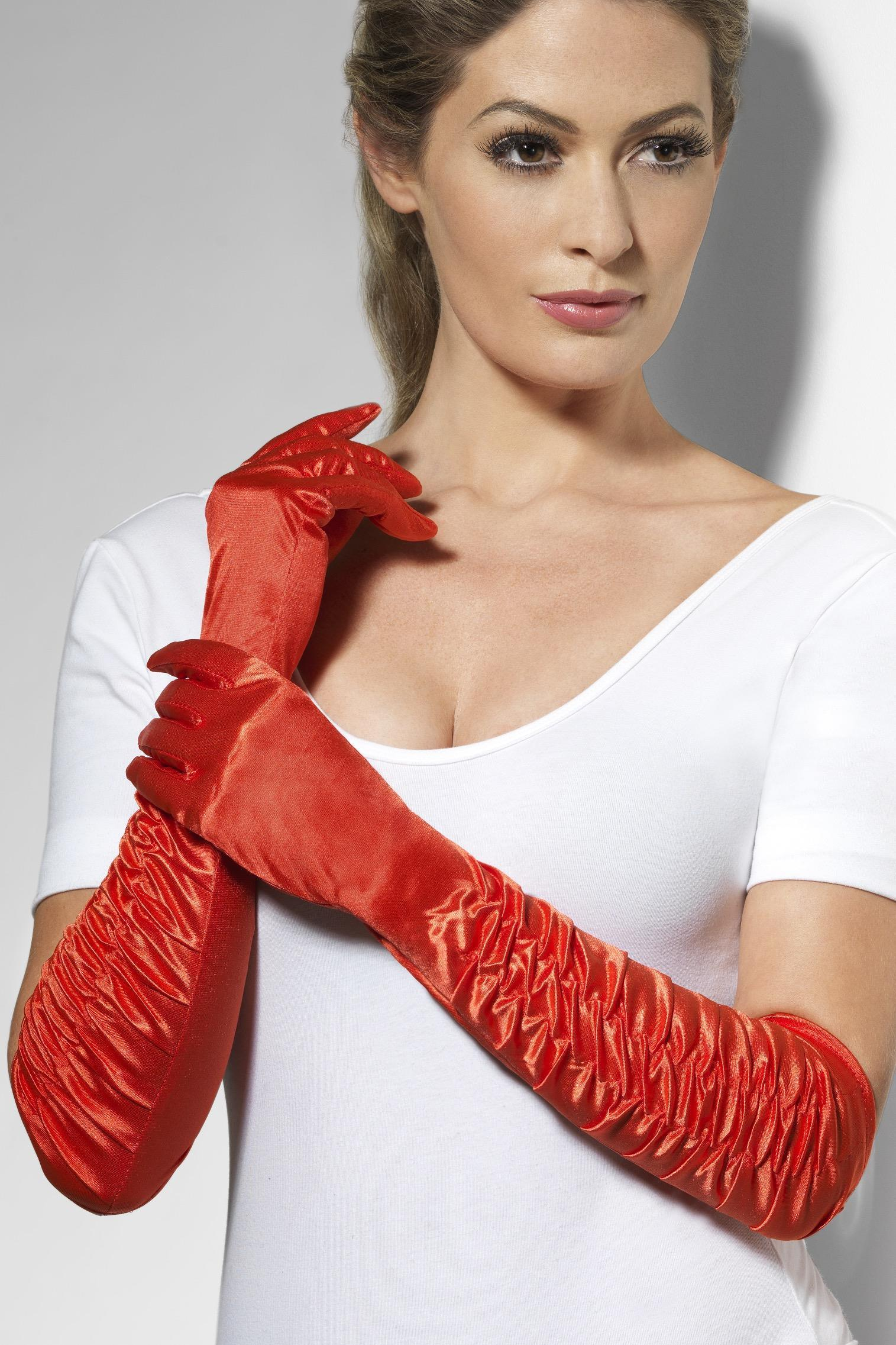 Temptress Gloves Red Long