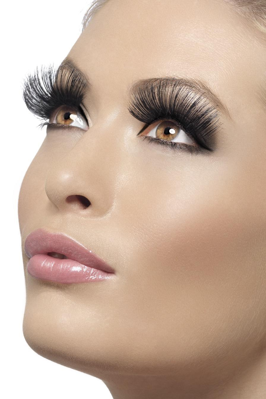 Eyelashes Black 60s Style Long
