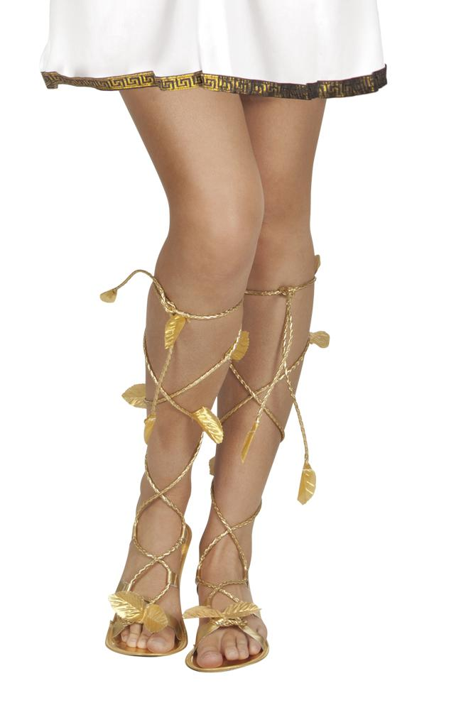 Roman Laurel Gold Sandals