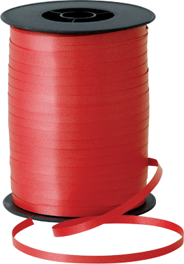Balloon Curling Ribbon Red