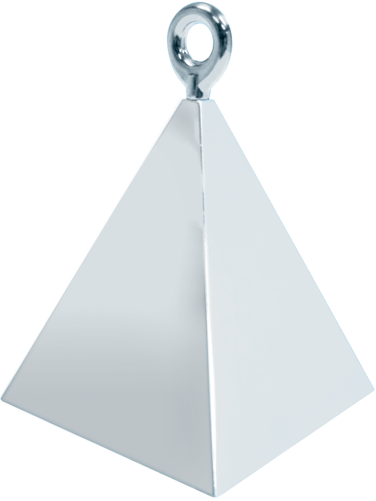 Pyramid Balloon Weight Silver