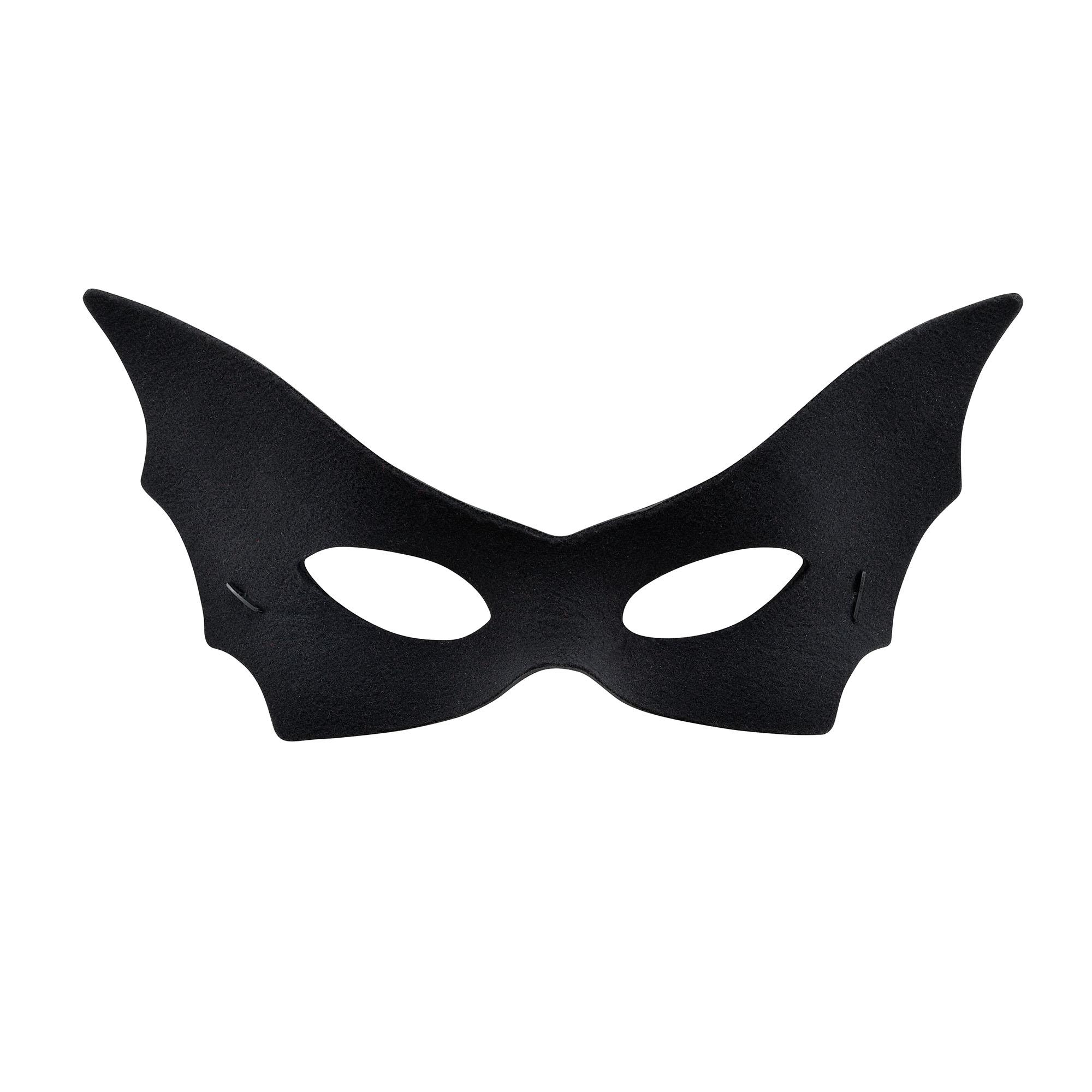 Bat Vamp Domino Eye Mask Black