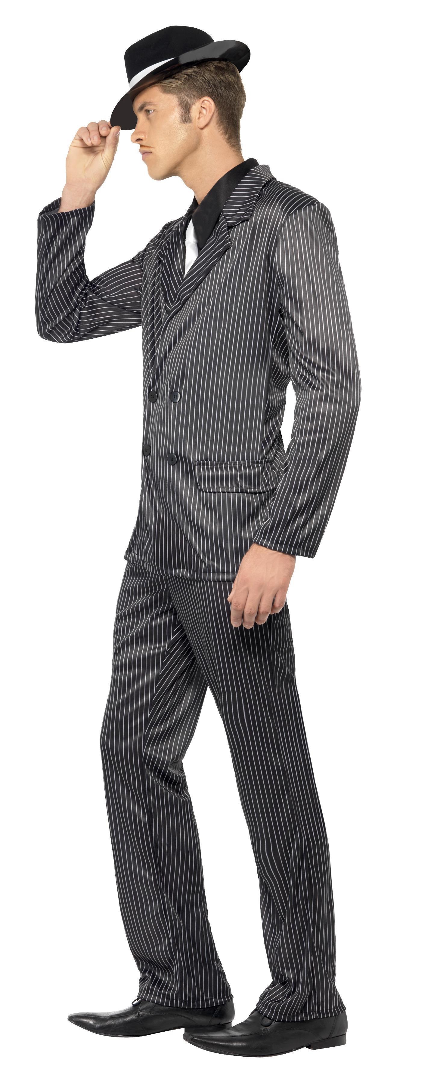Marilyn Monroe Tommy Gun: 20s Gangster Costume Black Pinstripe