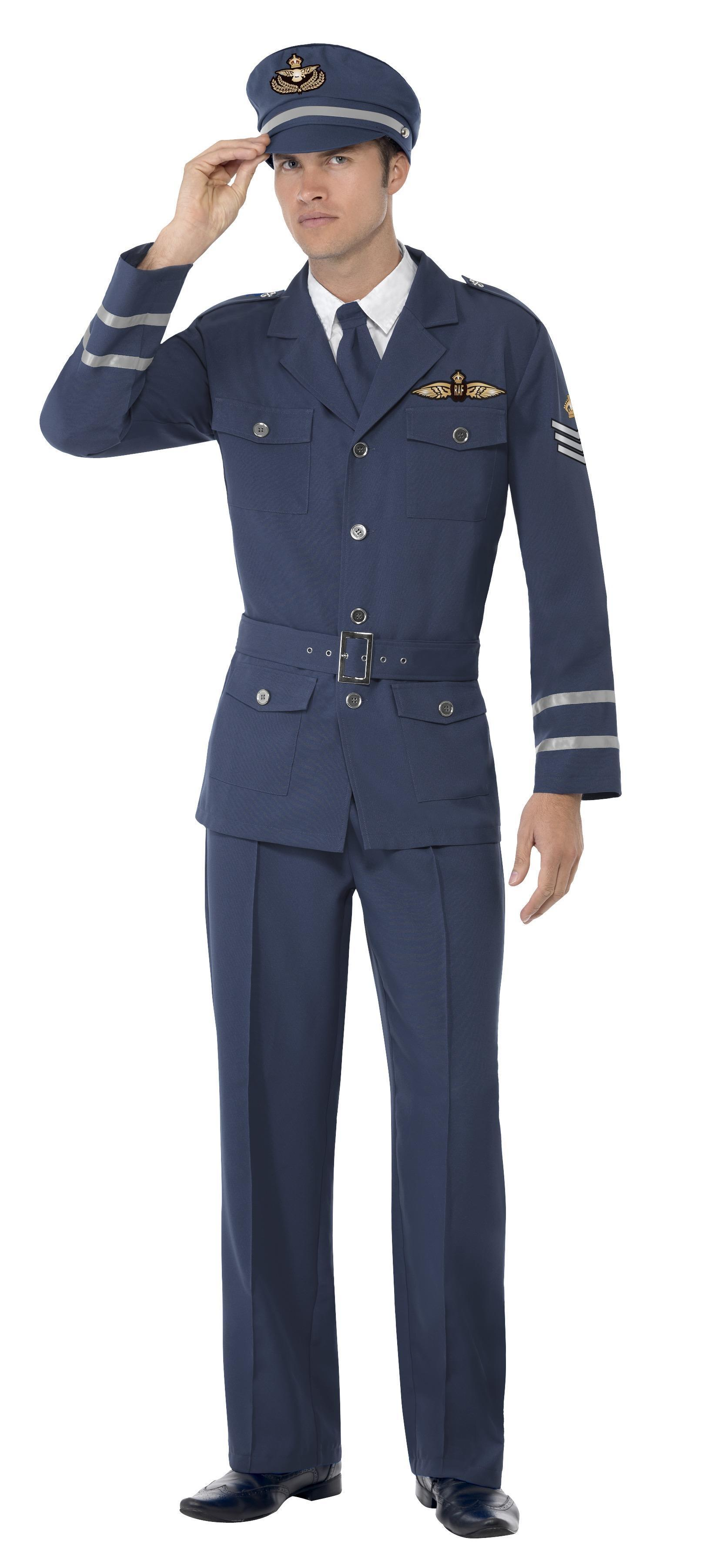 WW2 Air Force Captain Costume Blue