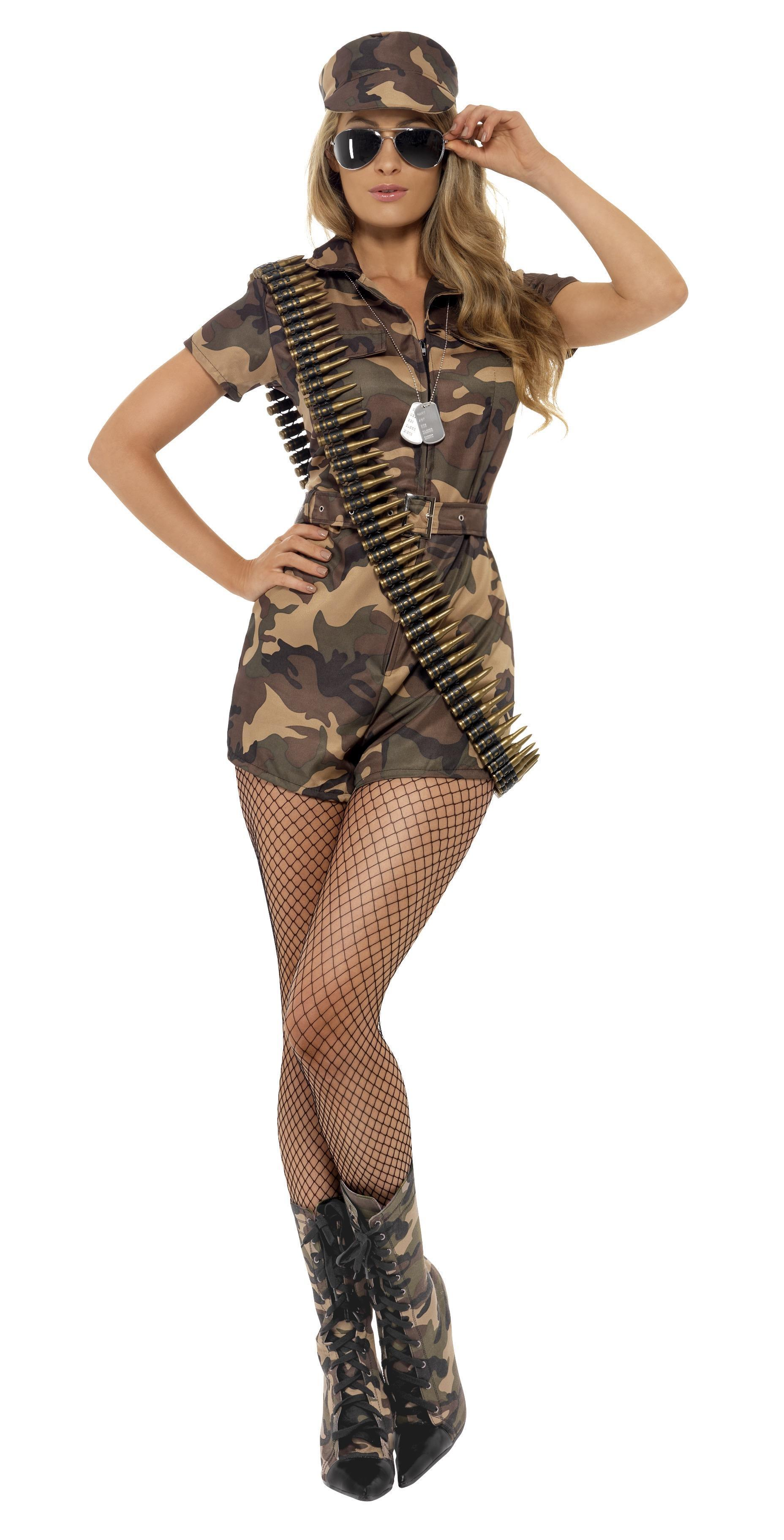 Army Girl Sexy Costume Camouflage