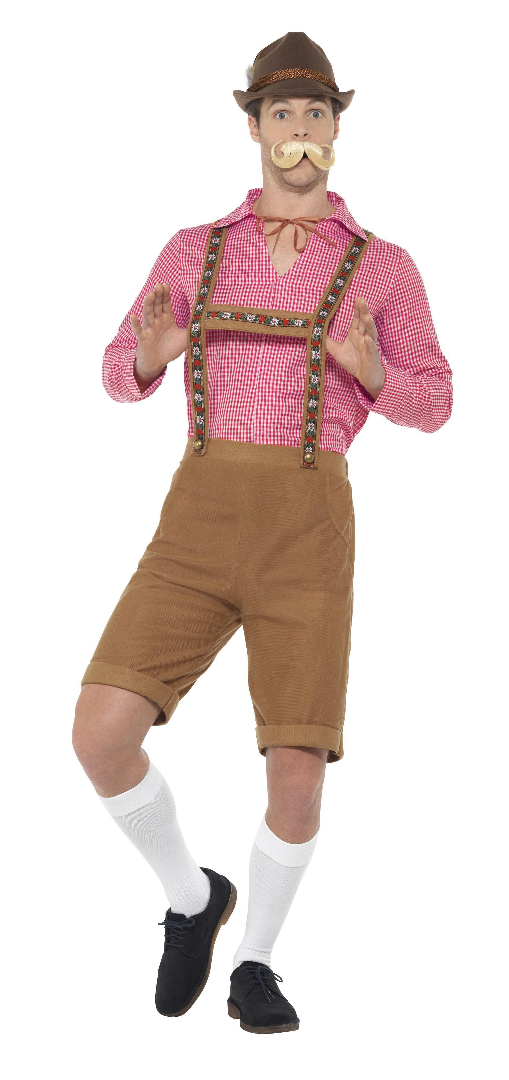 Mr Bavarian Costume Red & Brown