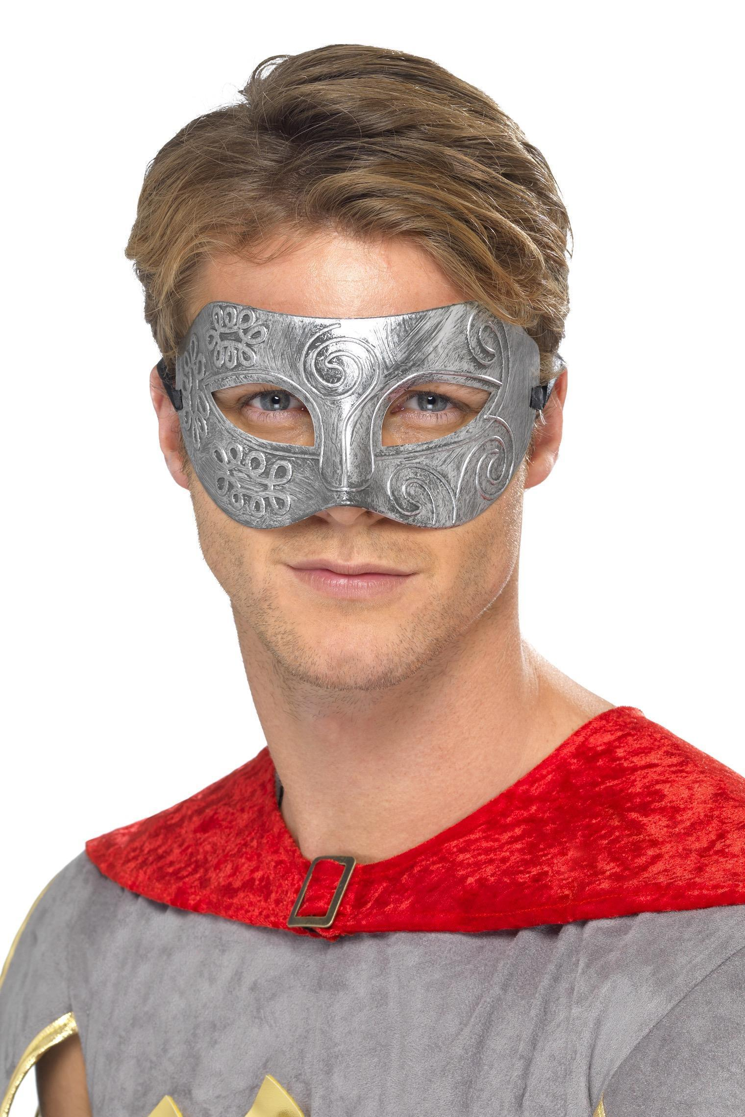 Metallic Warrior Colombina Eye mask Silver