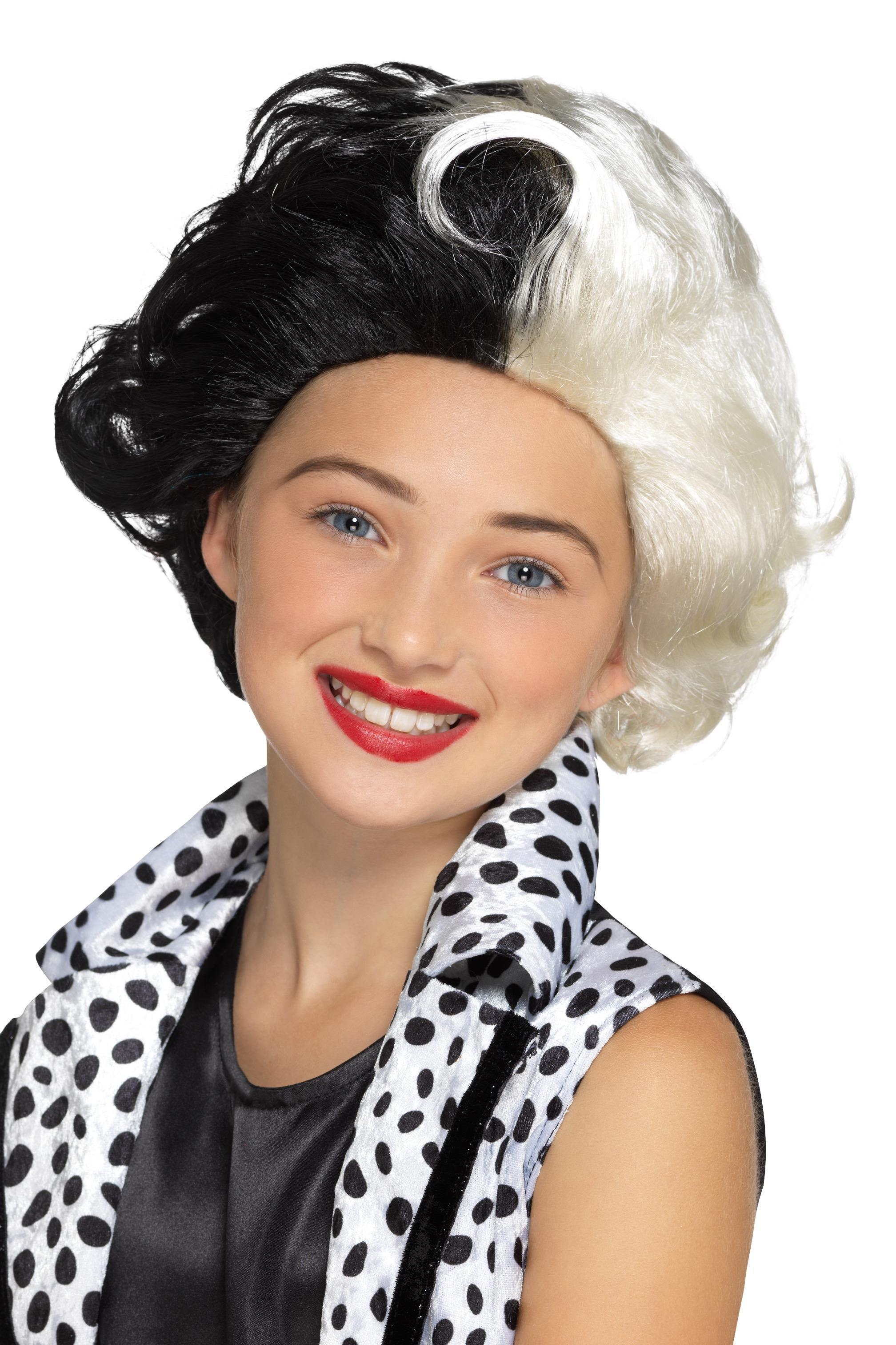 Kids Evil Madame Wig Black & White