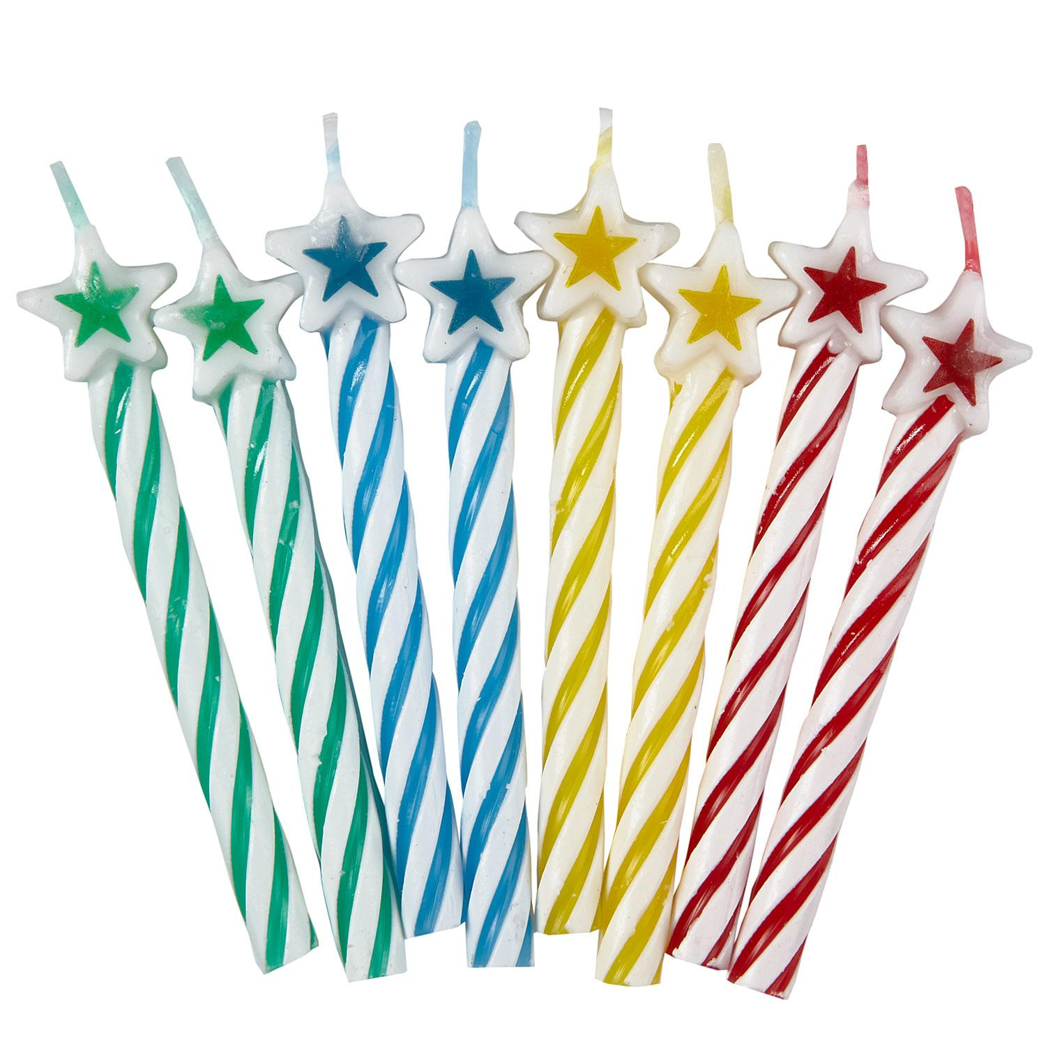 Star Candles Assorted Colours