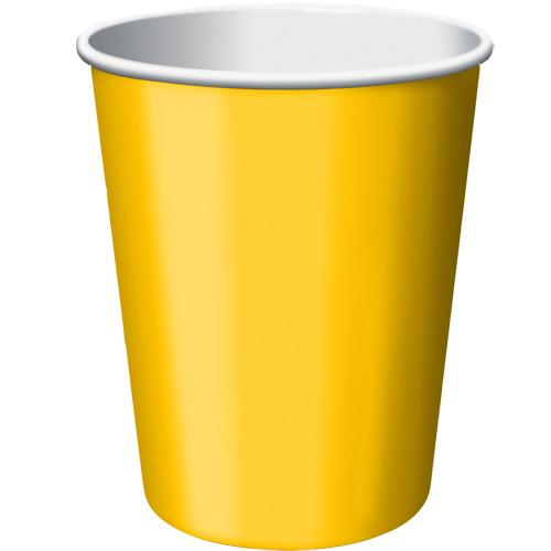 Paper Cups Sunshine Yellow 8 Pack