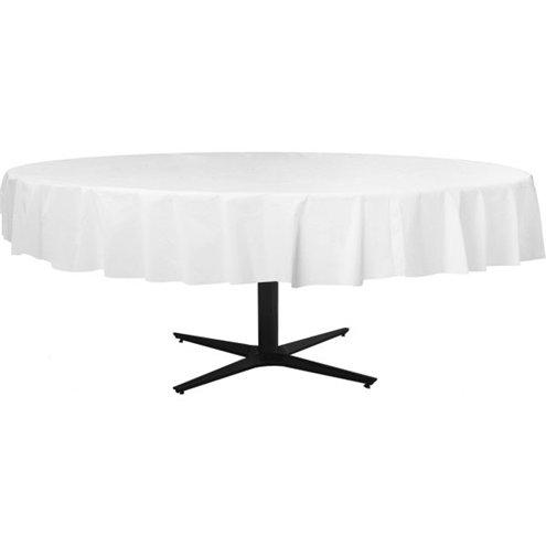 Table Cover Frosty White Round