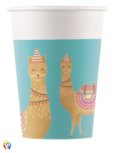 Paper Cups Loveable Llama