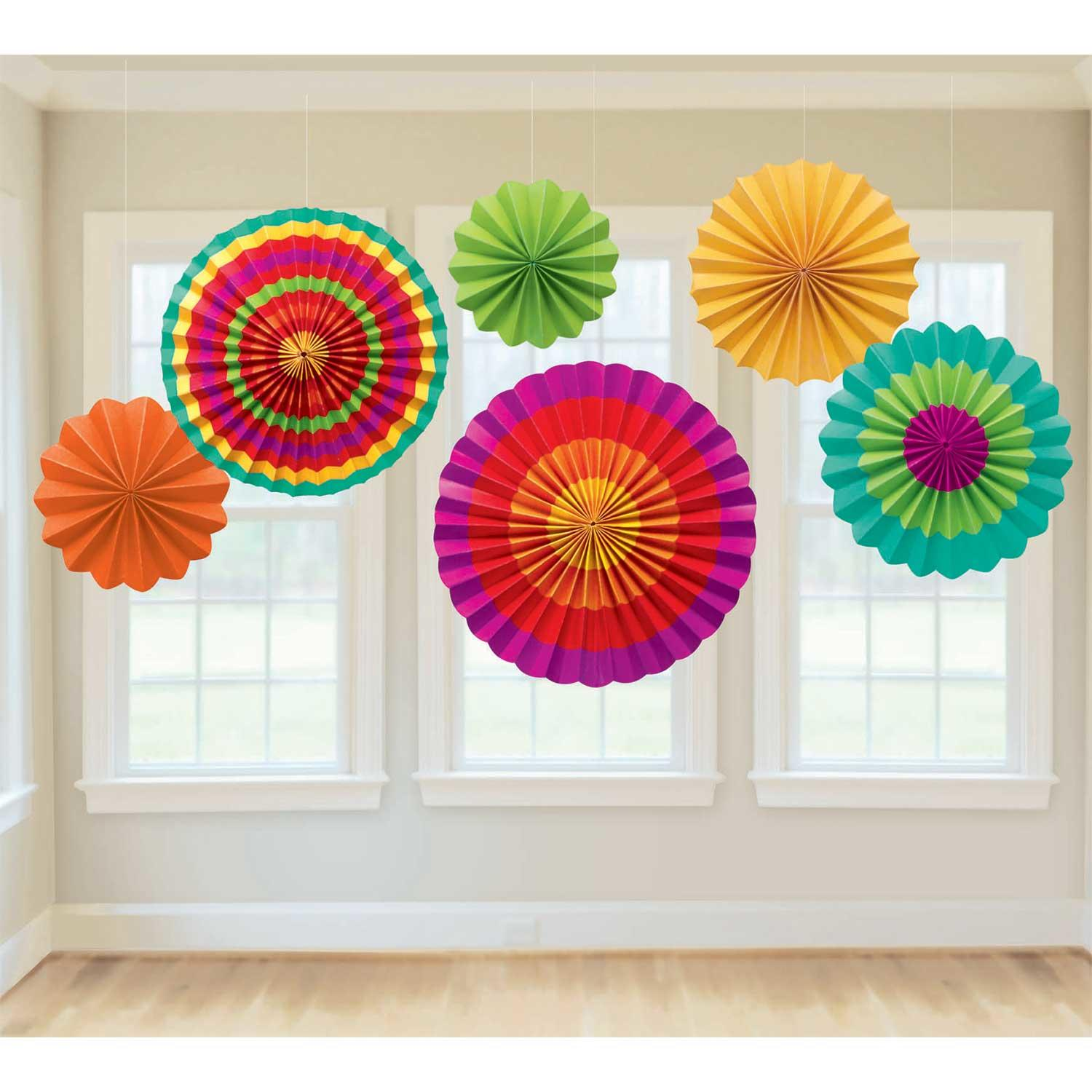 Paper Fan Decorations Fiesta